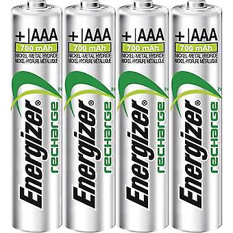 AAA battery (rechargeable) NiMH Energizer Power Plus HR03 700 mAh 1.2 V 4 pc(s)