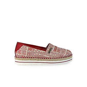 LOVE MOSCHINO RED ESPADRILLES
