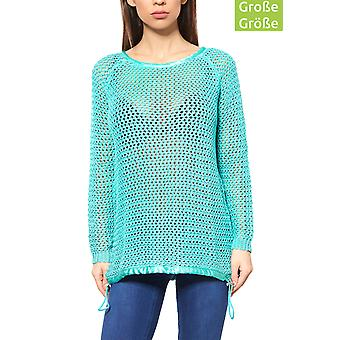 B.C.. best connections by heine sweater ladies plus size chunky knit sweater Green