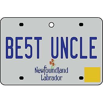 NEWFOUNDLAND AND LABRADOR - Best Uncle License Plate Car Air Freshener