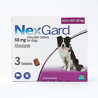 NexGard Chews for Medium Dogs 10-25kg (24.1-60lbs), 3 Pack