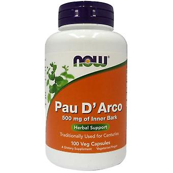 Now Foods Pau D'Arco 500Mg 100 Veggie Capsules