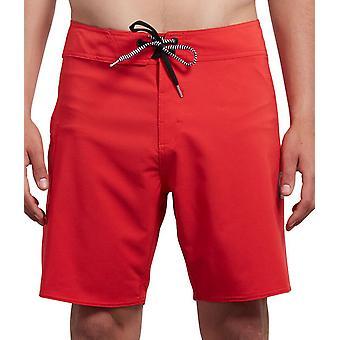 Volcom 4 way Stretch Boardshorts ~ Lido Solid Mod red