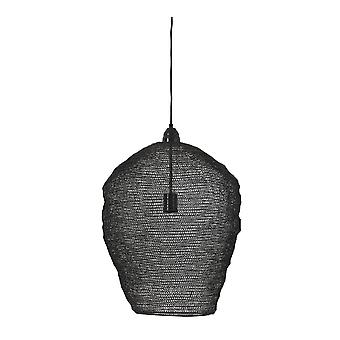 Light & Living Nordic Wire Mesh Hanging Pendant Lamp Pendant. 45x60Cm. Nikki Wire Black