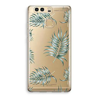 Huawei P9 Transparent Case (Soft) - Simple leaves