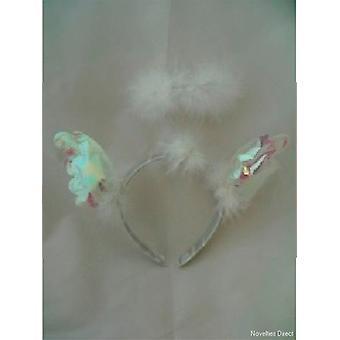 Headbopper hvit belagt med iriserende vinger og Angel Halo