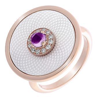 Orphelia argento 925 anello Rosegold Mop placcato con centrale viola zirconio ZR-7293