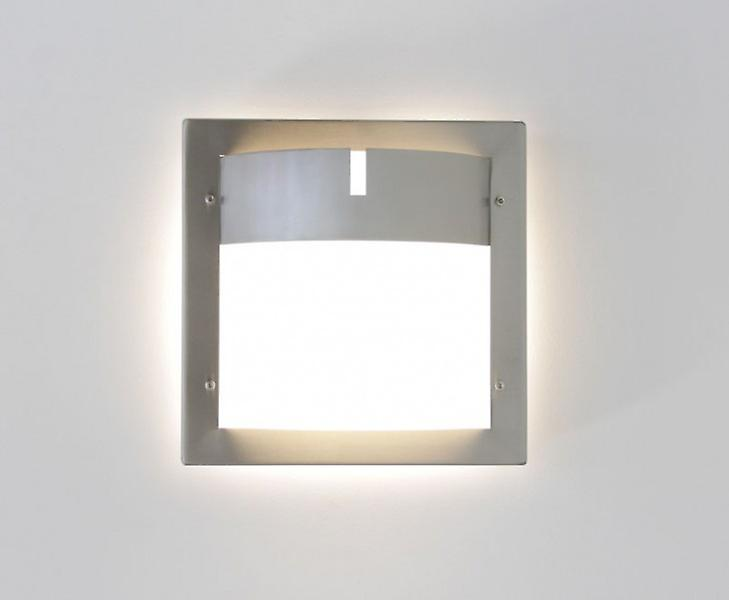 Wall lamp outdoor lamp Toja 24x24cm IP44 stainless steel E27 10550