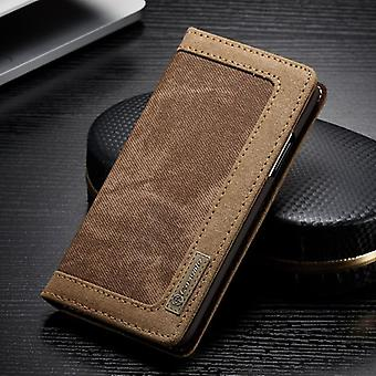 CaseMe Booktasche Flip case Apple iPhone X / 10 cover case protective cover Brown