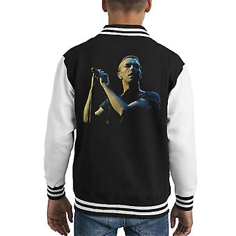 Chris Martin Coldplay BBC Radio 1s groot Weekend 2014 Kid's Varsity Jacket