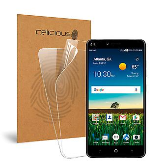 Celicious Vivid Invisible Glossy HD Screen Protector Film Compatible with ZTE Blade X Max [Pack of 2]