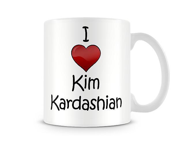 Ik hou van Kim Kardashian afgedrukte mok