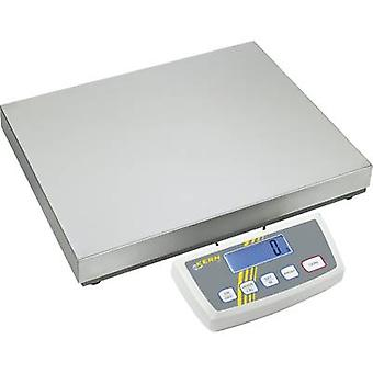 Kern Platform scales Weight range 35 kg Readability 5 g, 10 g mains-powered, battery-powered, rechargeable Silver