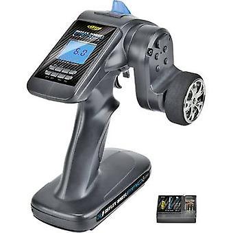 Carson Modellsport Reflex wiel Pro III LCD 2.4 GHz 11, 1V pistoolgreep RC 2,4 GHz nr. kanalen: 3 Incl. ontvanger