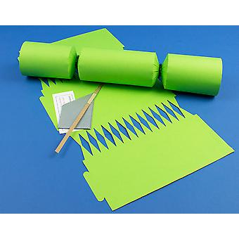 Single Jumbo Lime Green Make & Fill Your Own Cracker Making Craft Kit