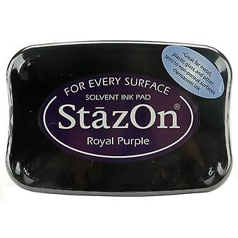 StazOn Solvent Ink Pad-Royal Purple