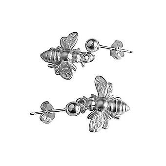Women's earrings Silver - earrings - 925 Silver - bee bee - 1.5 cm