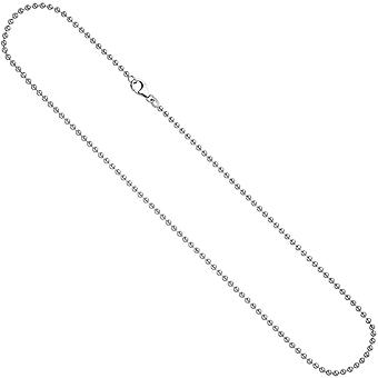 Ball chain necklace 925 Silver 2.5 mm 90 cm necklace chain silver chain carabiner