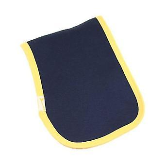 Niebieski & żółty przyciąć zwykły burp tkanina