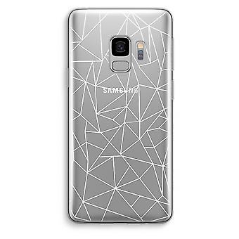 Samsung Galaxy S9 Transparent Case (Soft) - Geometric lines white