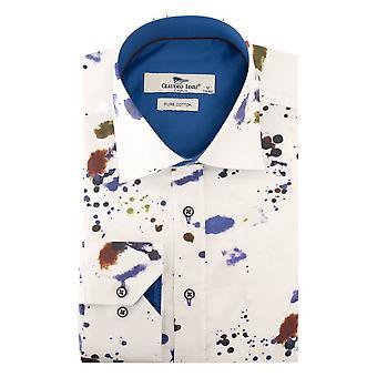 Claudio Lugli Abstract Ink Print Mens Shirt