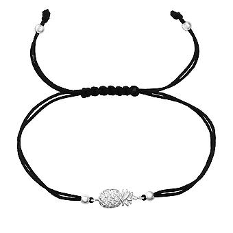 Pineapple - 925 Sterling Silver + Nylon Cord Corded Bracelets - W38129x