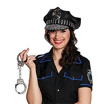 Police Hat rhinestone accessories Hat Carnival Halloween COP Gesetzeshütter YMCA