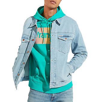 Wrangler Mens Regular Fit Casual Long Sleeve Buttoned Denim Jacket Top