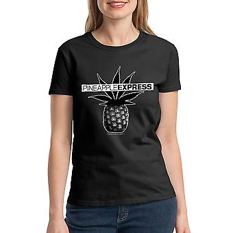 Pineapple Express Poster Women's Black T-shirt