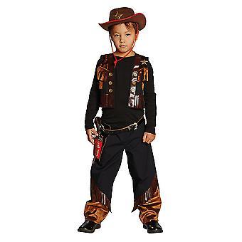Traje de diputado vaquero occidental para niños