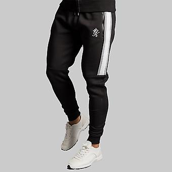 Gym King Crea Tracksuit Bottoms Snow Marl/Black