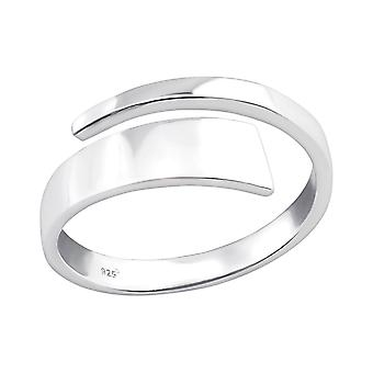 Open - 925 Sterling Silver Plain Rings - W36759x