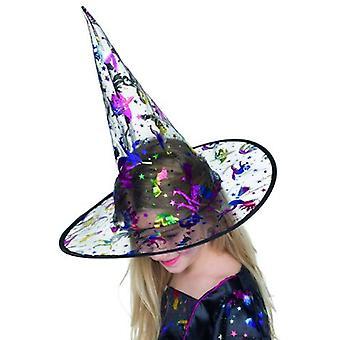 魔女の帽子子供ハロウィン アクセサリーの金属印刷