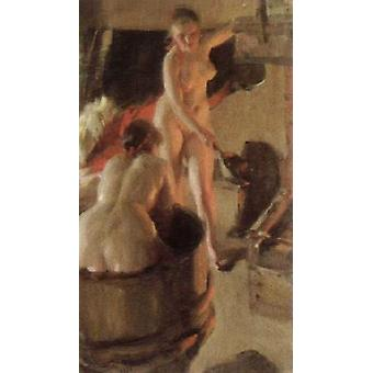 girls from dalarna having a bath,Anders Zorn,80x40cm