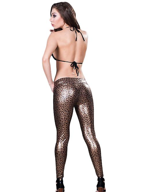 Waooh - Fashion - Tregging - Leggings long satin leopard style
