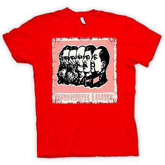 تي شيرت رجالي-الإرث الشيوعي ستالين ماركس ماو