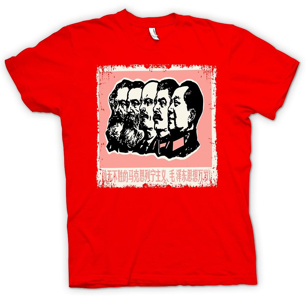 Mens T-shirt - Communist Legacy Stalin Marx Mao