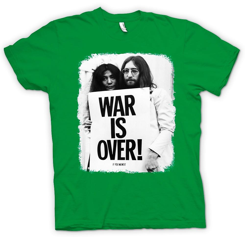 Mens T-shirt - John Lennon & Yoko - War Is Over