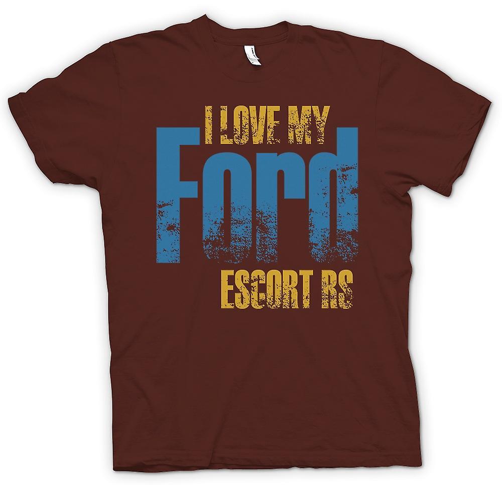 Mens t-shirt - amo mia Ford Escort Rs - appassionato di auto