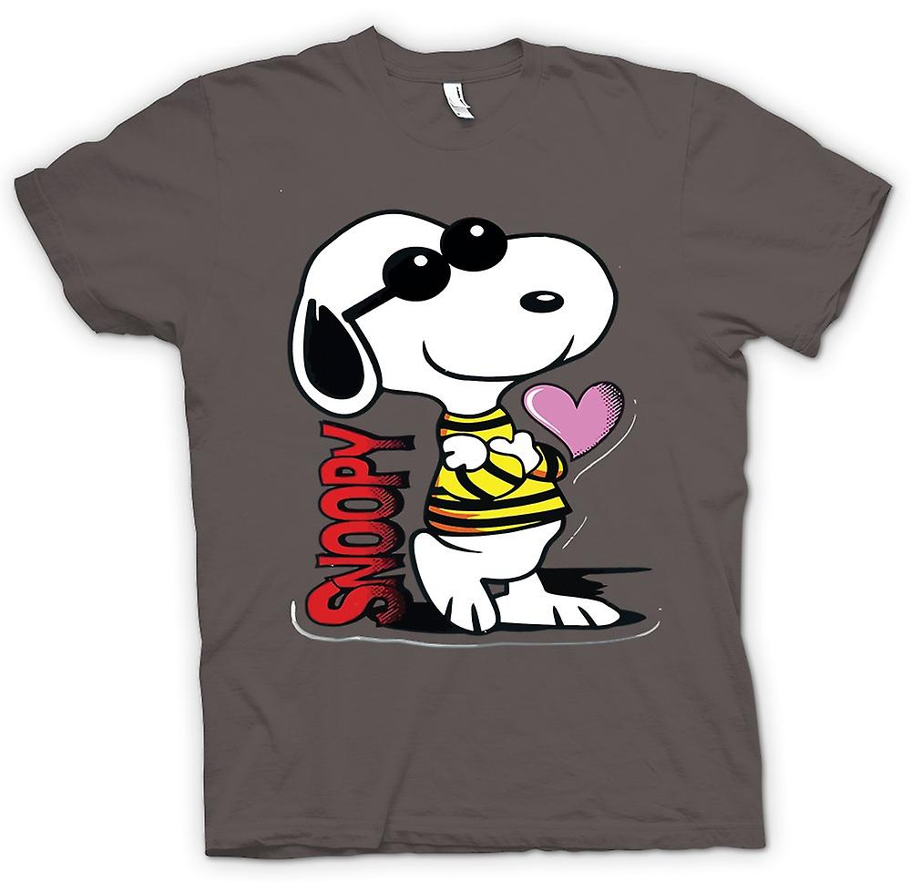 Frauen T-Shirt - Snoopy Cartoon mit Herz