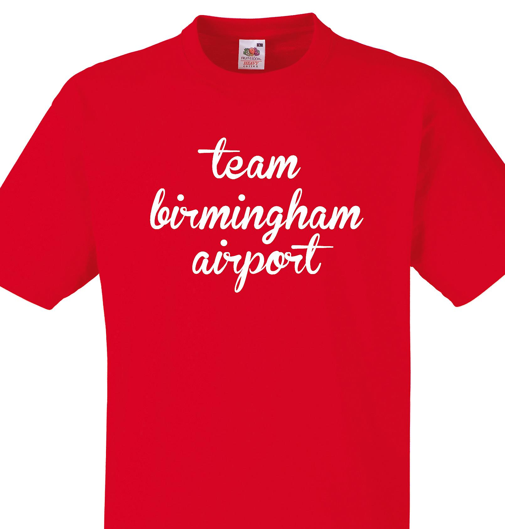 Team Birmingham airport Red T shirt