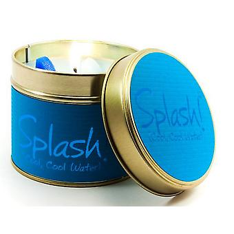 Lily Flame Scented Candle in a presentation Tin - Splash