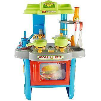 Cuisine dinette cuisinière en plastique pour enfants jeux jouet moderne 0101010