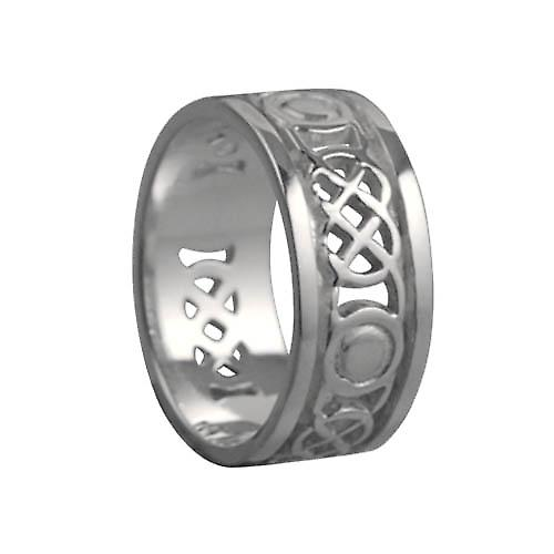 Silver 8mm pierced Celtic Wedding Ring