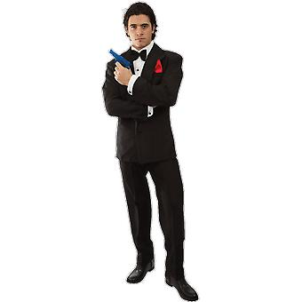 Orion Costumes Mens 007 James Bond Spy Black Suit Film Fancy Dress Costume