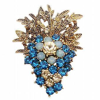 Fashionable Brooch Affordable Jacket Dress Brooch Indicolite Crystals