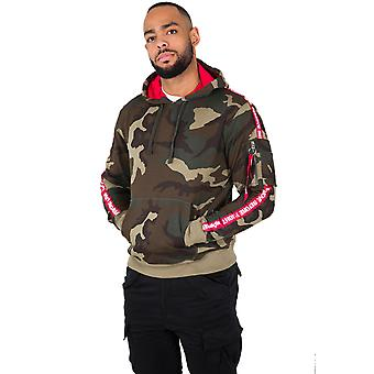 Alpha industries men's Hooded sweater RBF tape