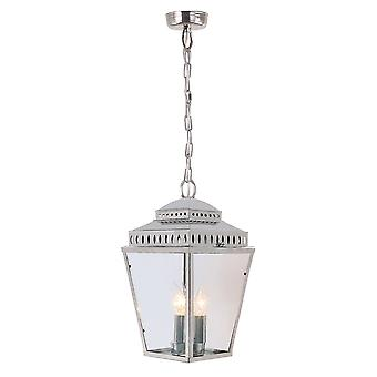 Mansion House Chain Lantern Polished Nickel - Elstead Lighting