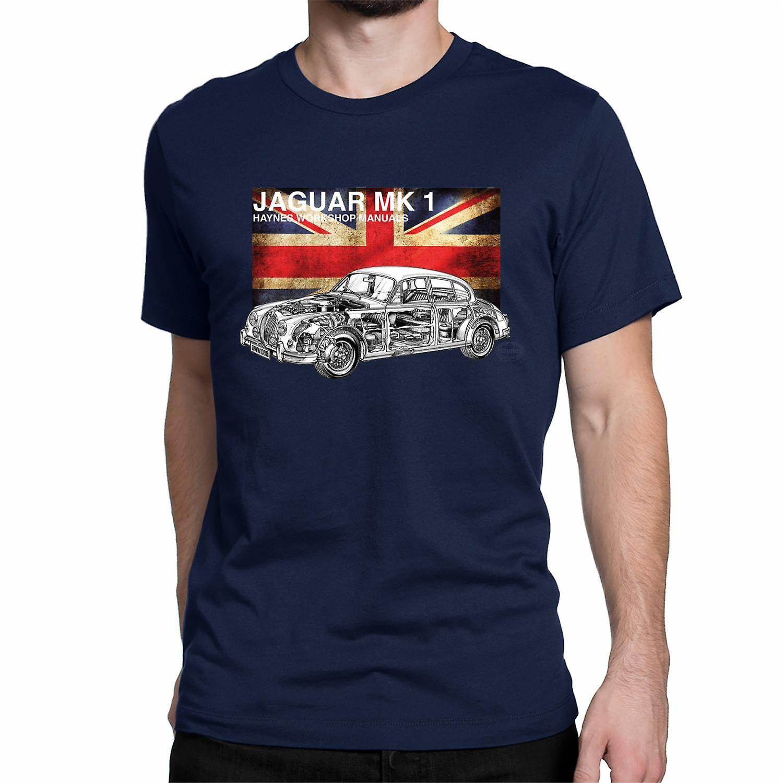 Official Haynes Manual Unisex T-shirt JAGUAR MK1  on british flag background Haynes Workshop Manuals