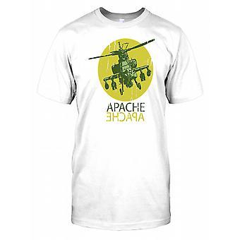 Apache ataku śmigłowca męskie T Shirt